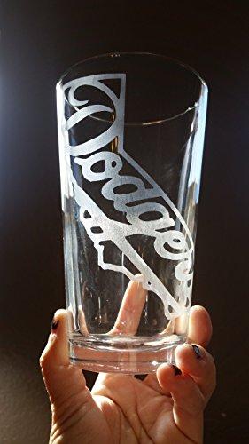 Dodgers Pint Glass Baseball California Beer Cup