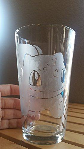 Pokemon Bulbasaur Inspired Pint Glass Beer Cup