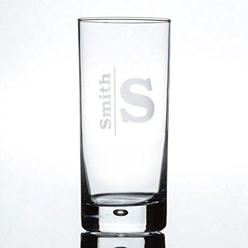 Personalized Set of 4 Pilsner Glasses Name  Letter