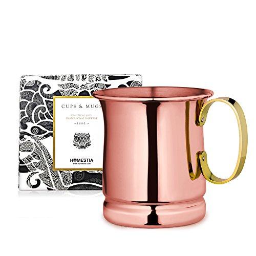 Homestia Handmade Tankard Beer Mug Stainless Steel Cocktail Beer Drinking Mug Beverage Stein 1285oz Pack of 4 Rose