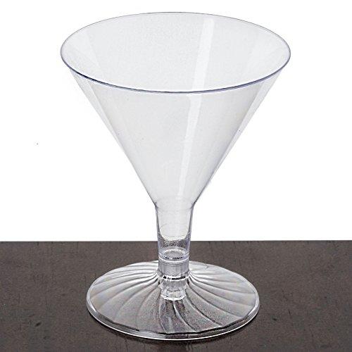 Efavormart 60 Pcs - Clear Marvelous 4oz Disposable Plastic Martini Glass