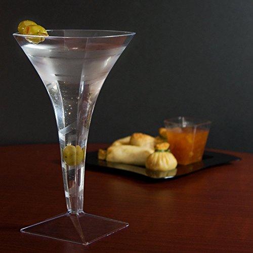 Fineline Wavetrends 1209 Clear Plastic 8 oz Martini Glass CASE of 72 wBonus FDL picks