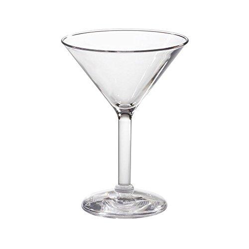 GET SW-1402-1-SAN-CL Clear SAN Plastic 6 Oz Martini Glass - Dozen