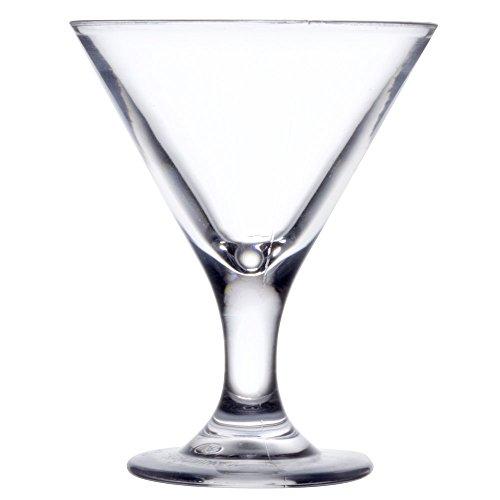 GET SW-1430 SW1430 3 oz SAN Plastic Martini Glass