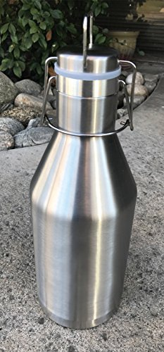 Stainless Steel Vacuum Insulated Beer Growler 64oz New Item