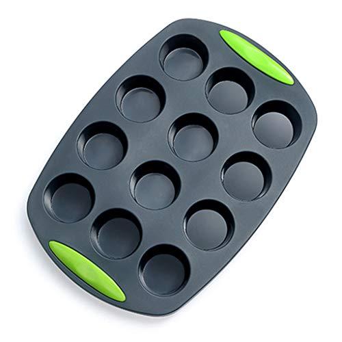 12Cup Muffin Silicone Cake Pan BPA-Free Food Grade Silicone Baking Mold Bakeware Baking Mold Pans