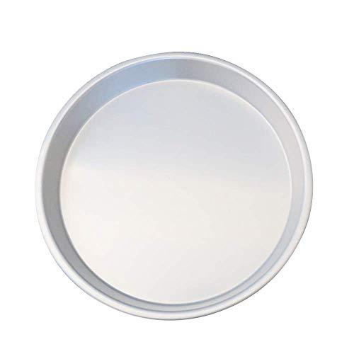 Fesjoy Stainless Steel Round Cake Baking Mold Pan 8 Inch Non-Stick Pizza Baking Tray Bakeware Mold Tool