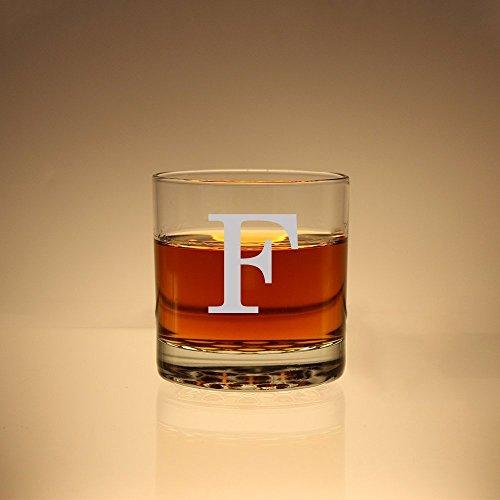 Monogram Scotch Glass Groomsman Gift Monogram Whiskey Glass Etched Rock Glass Personalized Scotch Glass Etched Glas