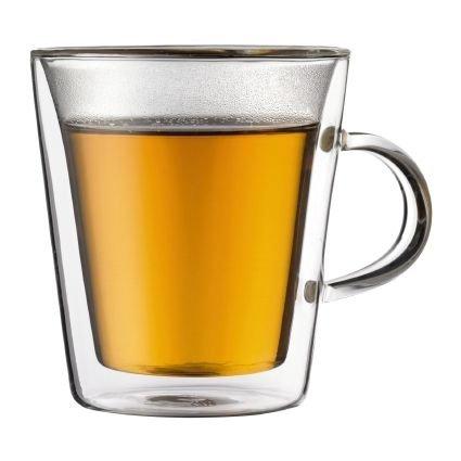 Bodum Canteen Double Wall 6 Ounce Tea Glass Set of 2