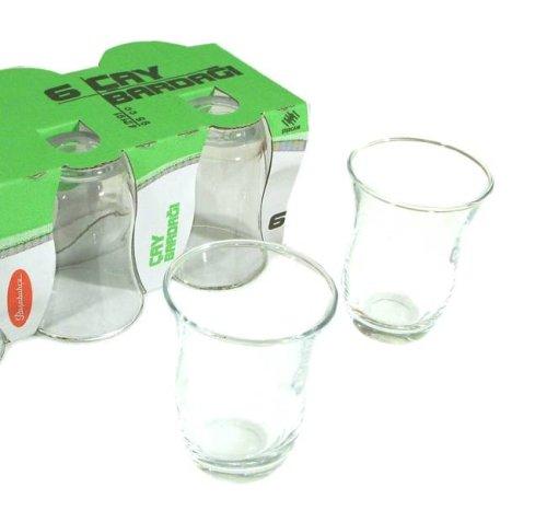Turkish Tea Glass Set – Plain 6 Pcs