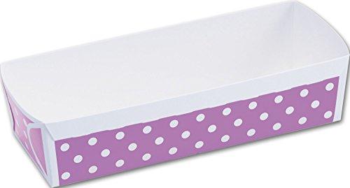 Food Gourmet Boxes - Purple Polka Dot Loaf Baking Pans 6 910 x 2 35 x 1 45 40 Pans - BOWS-ST8128