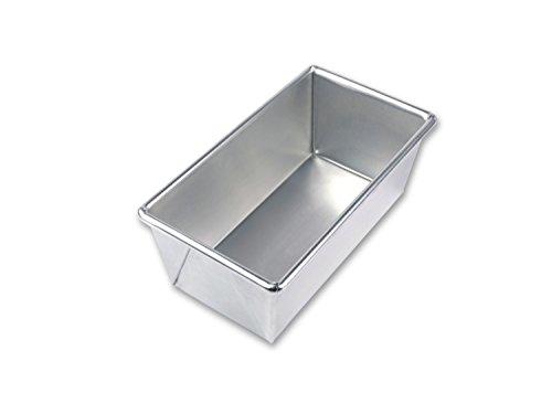 USA Pan Bare Aluminum Bakeware 1140LF-BB 1 Pound Loaf Baking Pan Warp-Resistant Rust-Proof Bakeware