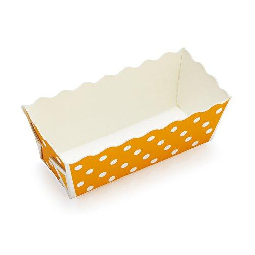 Welcome Home Brands Mini Rectangular Loaf Baking Pans Polka Dot Orange 32l x 12w x 14h Case2000