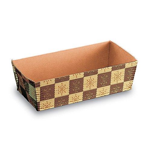 Welcome Home Brands Rectangular Loaf Baking Pans Brown Emblem 55l x 26w x 18h Case250