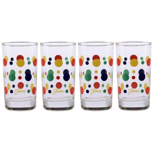 Fiesta Cobalt Dot 7-Ounce Juice Glass Set of 4