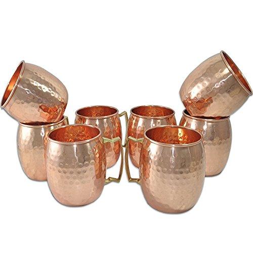 Figo Inc Handmade Pure Copper Hammered Moscow Mule Mug 8