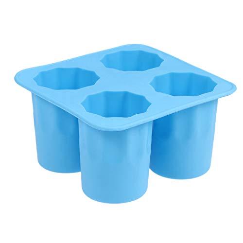 BESTONZON Ice Cube Trays Silicone Mold ice Shot Glass Mold Reusable Blue