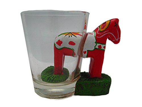 Dalarna Horse 3-D Novelty Shot Glass