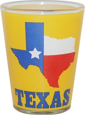 Great State of Texas Souvenir Novelty Shotglasss Yellow