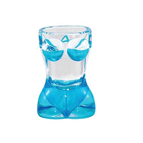 Shot Glass BIKIBI SHAPE Sexy Bikini Bachelor Party Novelty Shot Glass Blue
