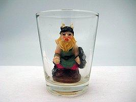 Souvenir Viking 3-D Novelty Shot Glass