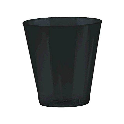 Amscan Big Party Pack Jet Plastic Shot Glasses 2 oz Black