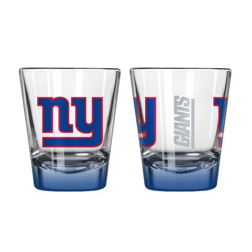 NFL New York Giants Elite Shot Glass 2-ounce 2-Pack