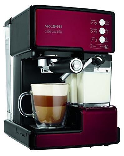 Mr Coffee BVMC-ECMP1106 Cafe Barista Espresso Maker Machine  Red