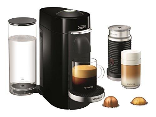 Nespresso VertuoPlus Deluxe Coffee and Espresso Maker by DeLonghi with Aeroccino Black