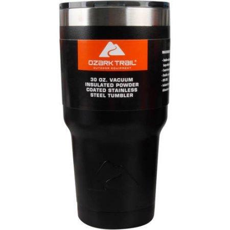 Ozark Trail 30-Ounce Double-Wall Vacuum-Sealed Tumbler Black