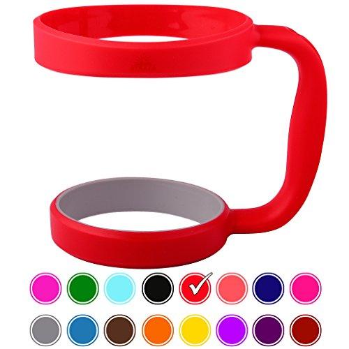 STRATA CUPS RED 30oz Tumbler Handle For YETI tumbler RTIC OZARK trail tumbler SIC and Other Ramblers Cups – No Slip Grip - BPA FREE