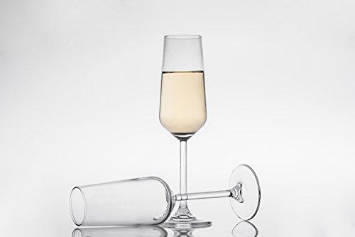 Champagne Flute Glasses Set of 3 6 12 oz Shatter Resistant Stemware Elegant Glassware Clear