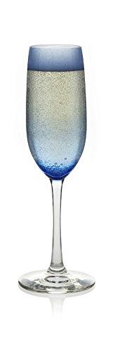 Libbey Vina 6-piece Blue Champagne Flute Glass Set