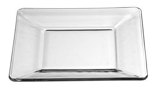 Libbey Crisa Tempo Square SaladDessert Plate 8-Inch  Box of 12 Clear