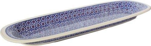 Polish Pottery Appetizer Platter From Zaklady Ceramiczne Boleslawiec 1430-120 Length 175
