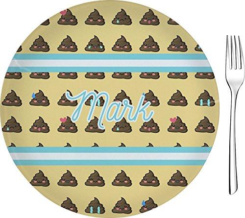 Poop Emoji Appetizer  Dessert Plate 8 Personalized