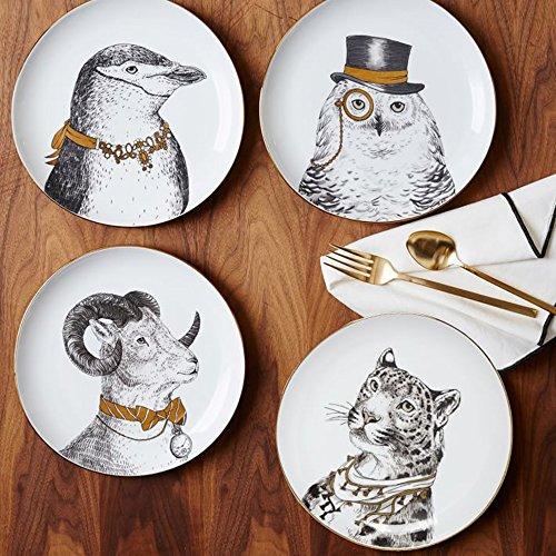 XDOBO Fine Bone China Appetizer Salad Dessert Plates Set of 4 8 Multi-patterns 4