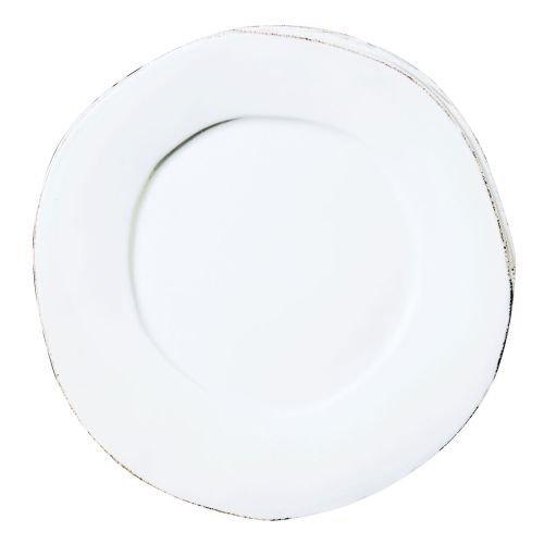 Vietri Lastra 12 Dinner Plate Color White