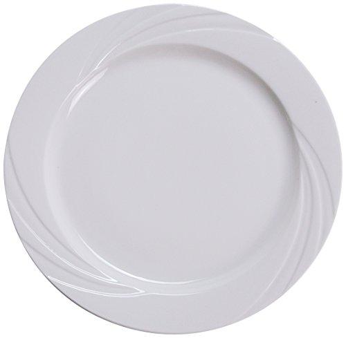 Yanco MM-21 Miami 12 Dinner Plate Porcelain Bone White Pack of 12
