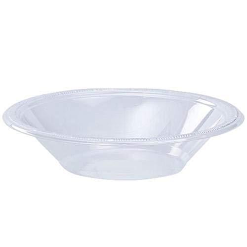 12 oz Plastic Bowls 40 Count Disposable Soup Plates Set Party Wedding Colors Clear