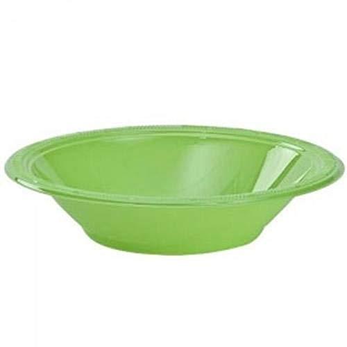 12 oz Plastic Bowls 40 Count Disposable Soup Plates Set Party Wedding Colors Lime Green
