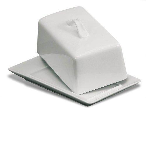 Danesco White Porcelain Covered Butter Dish