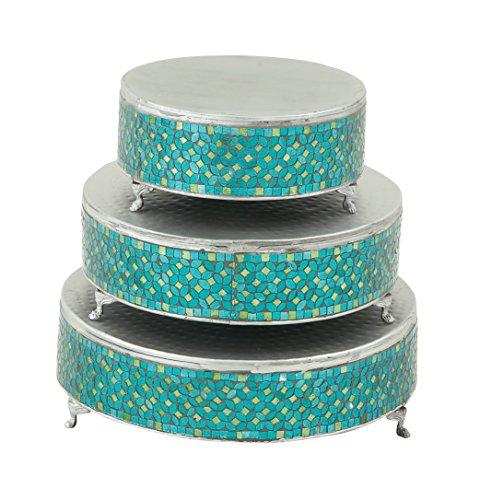 Deco 79 23981 Metal Mosaic Cake Stand Set of 3