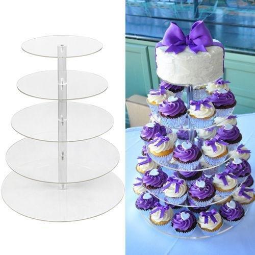 KOUYE- 567 Tier Cake Stand Round Cake Stand Cake Rack Wedding Cake Birthday Celebration Party Multilayer Cake Stand 5 Tier