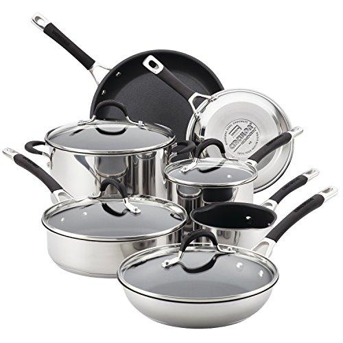Circulon Momentum Stainless Steel Nonstick 11-Piece Cookware Set