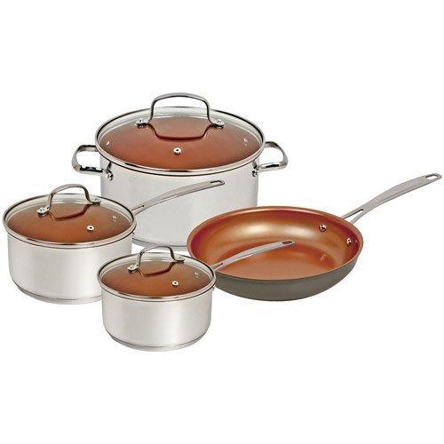 Nuwave Duralon Ceramic Nonstick 7 Pc Cookware Set