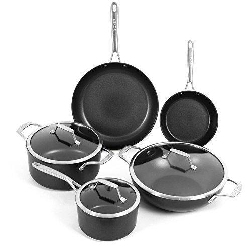 TECHEF - Onyx Collection Nonstick Cookware Set with New Teflon Platinum Non-Stick Coating PFOA Free 8-Piece