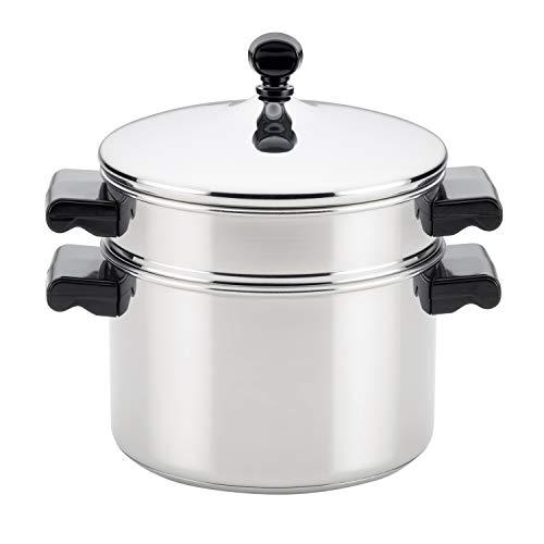 Farberware 70043 Stack N Steam 3-Qt Covered Saucepot Insert Stainless Steel Steamer Set 3-Quart
