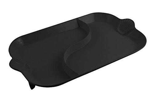 Bon Chef 2095DBLK Aluminum Shell Divided Platter Black
