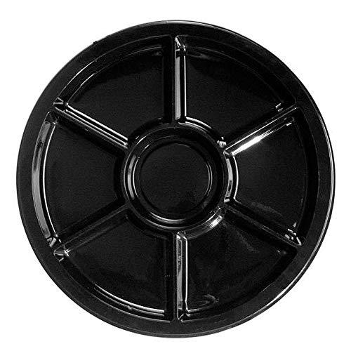 NORTHWEST ENTERPRISES 1624717T Black 16In Divided Platter 16
